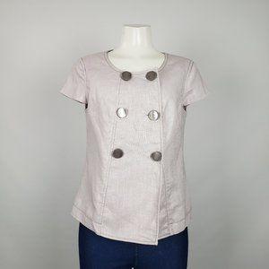 mac & Jac Grey Short Sleeve Blazer Size M
